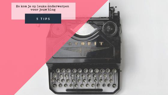 Een typemachine waarmee je door middel van onze blog idee onderwerpen een goed blog kan typen