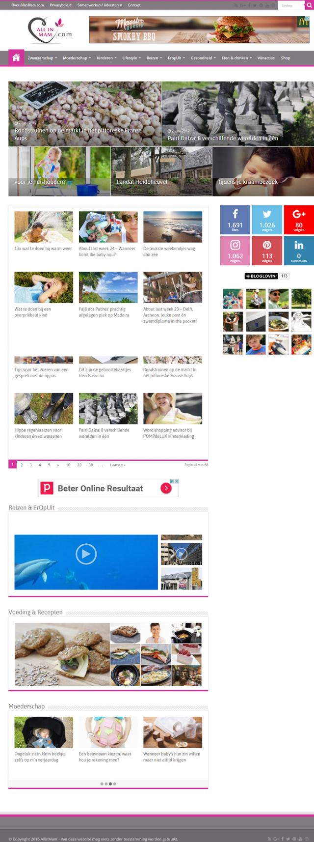 Homepage Allinmam.com - mamamagazine