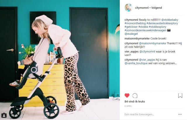 CITYMOM - Instagram post - Influencer samenwerking Stokke
