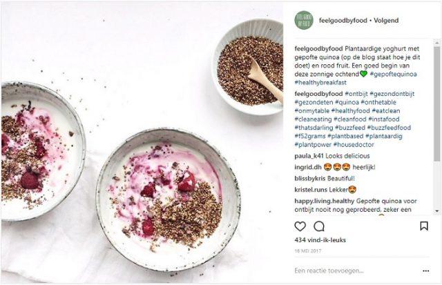 Influencer samenwerking Lola Quinoa - Instagram