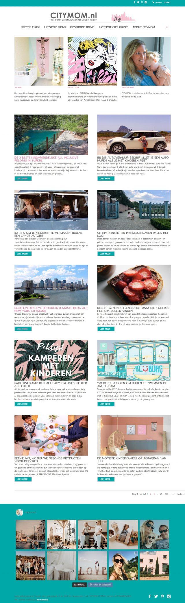 Homepage Citymom.nl