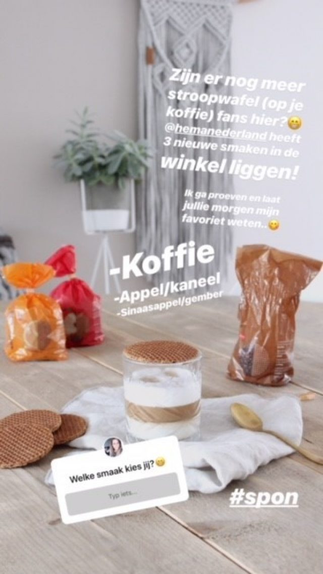 Influencer campagne stroopwafels - HEMA - Ashley Willems- Instagram story
