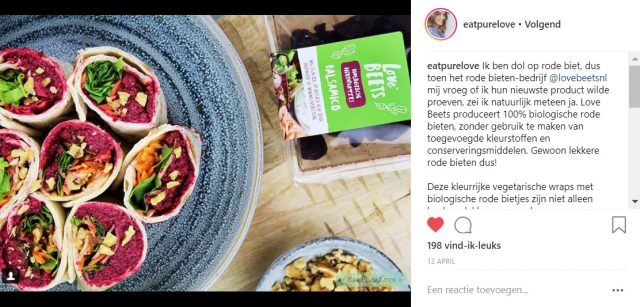 Love Beets - Instagram - food influencer EatPureLove