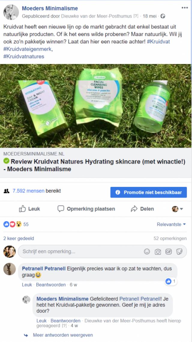 Moeders Minimalisme - Kruidvat Natures - Facebook