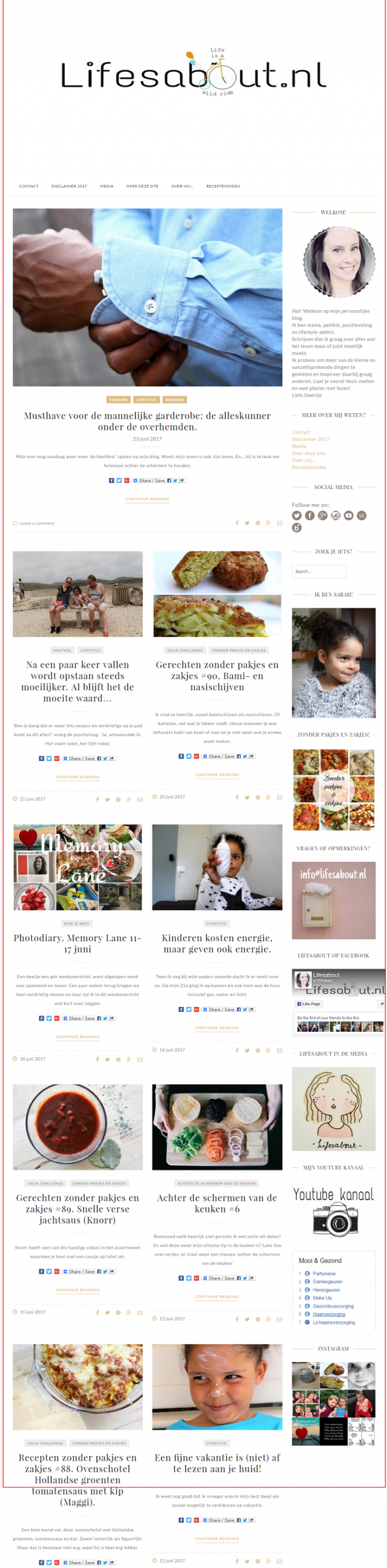 Homepage Lifesabout.nl