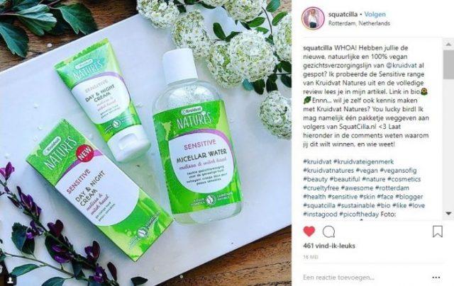 Squatcilla - Kruidvat Natures - Instagram - Winactie