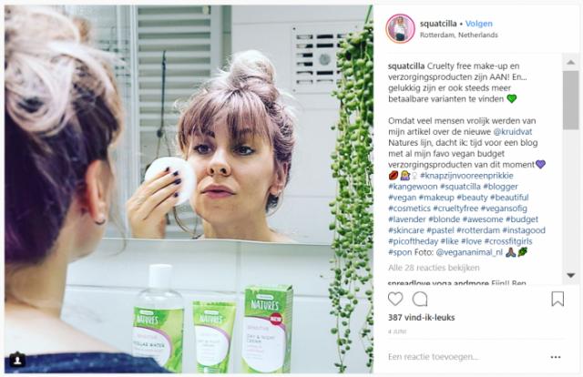 Squatcilla - Kruidvat Natures - Instagram