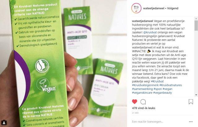 Wat Eet Je Dan Wel - Instagram - Samenwerking Kruidvat Natures