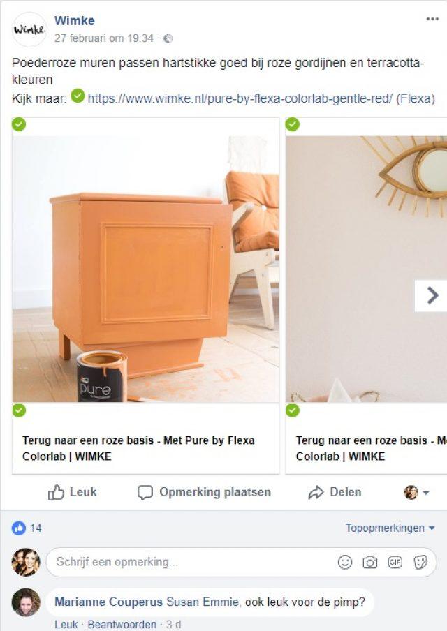Wimke Facebook - Samenwerking met Flexa